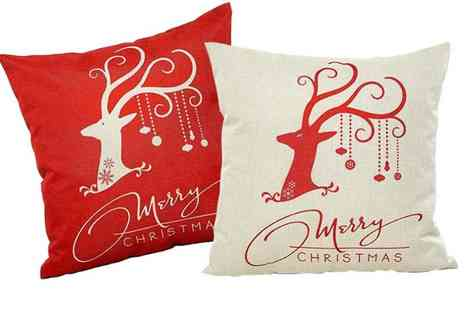 Boni Caro - Pack of two Christmas cushion covers - Save 67%
