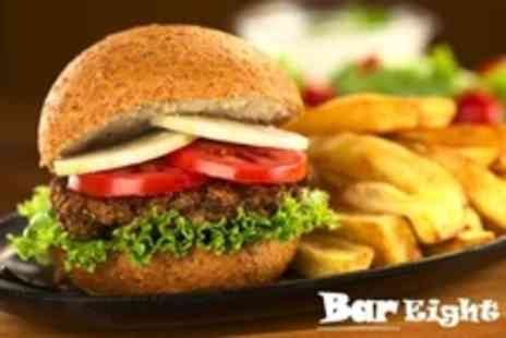 Bar Eight - Burger, Chips and Salad For Four - Save 47%