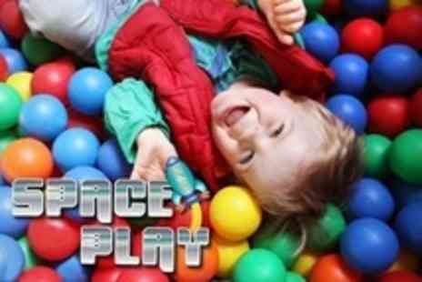 Space Play - Soft Play Three Family Tickets With Refreshments - Save 74%