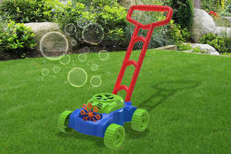 Direct 2 public - Kids auto bubble blowing lawn mower - Save 75%