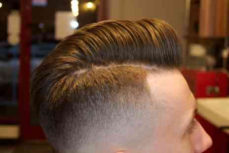 Barber N Bar - Wash, Cut, Trim or Shave and Facial with Neck and Head Massage with a Free Bar - Save 49%