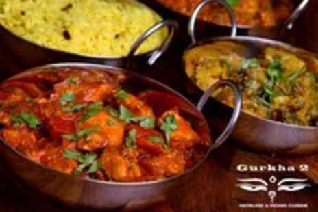 Gurkha 2 - Two Course Indian or Nepalese Meal With Rice, Side and Mango Lassi for Six - Save 60%
