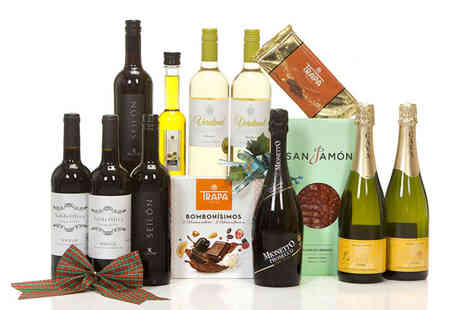 San Jamon - Spanish food and wine hamper includes prosecco, nougat, olive oil and more - Save 56%