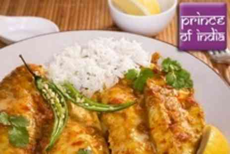 Prince of India - Two Course Indian Meal With Rice For Two - Save 65%