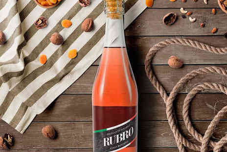 All My Wine - 12 Bottles of Rubro Vino Rosado Sparkling Rose Wine - Save 60%