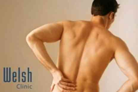 Welsh Clinic - Two Chiropractic Sports Massage, Consultation, and Follow Up Treatment - Save 76%