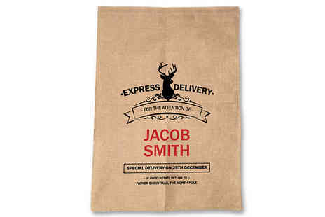 Deco Matters - Personalised Christmas Sack 6 Designs - Save 60%