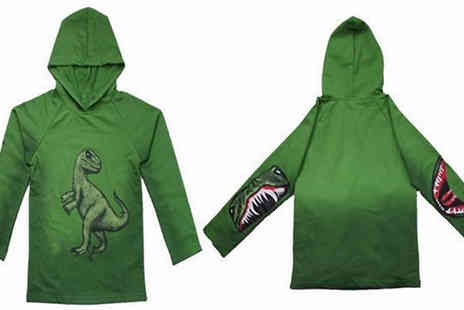 Best mall ever - Boys Dinosaur Print Hoodie Available in 5 Sizes - Save 80%