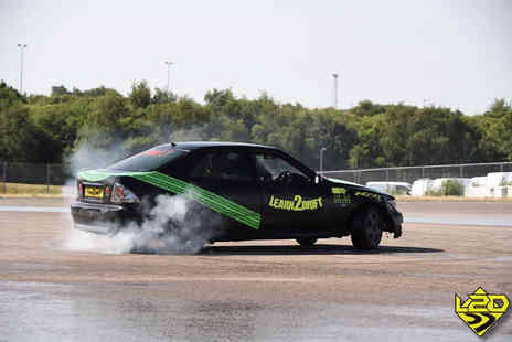 Learn2Drift - One hour car drifting experience including five passenger laps for one, two, three or four - Save 61%