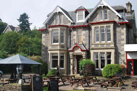 McInnes House Hotel - One, two or three night Cairngorms stay for two people with breakfast, a bottle of Prosecco and late check out, or with two course dining - Save 58%