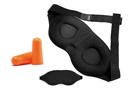 Home Season - 3D Sleeping Eye Mask With Ear Plugs - Save 85%