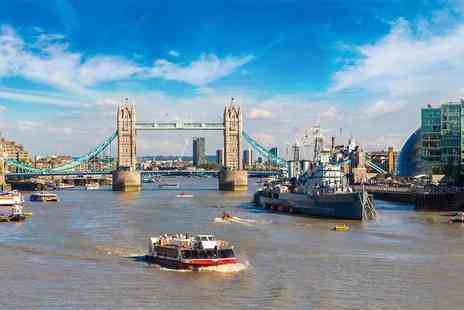 City Cruises - Thames cruise for two people including a two course lunch and a glass of Prosecco with City Cruises - Save 42%