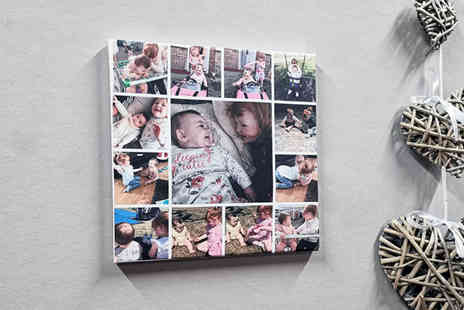 Your Perfect Canvas - 16x16 square personalised collage canvas - Save 84%