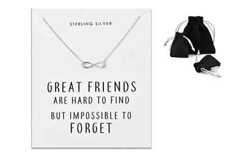 Philip Jones - Sterling silver friendship quote necklace - Save 78%