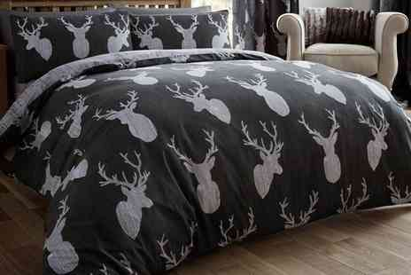 Groupon Goods Global GmbH - Winter Stag Duvet Cover Set in Choice of Colour and Size - Save 0%