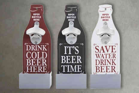London Exchain Store - A wall mounted bottle opener choose from three colours - Save 75%
