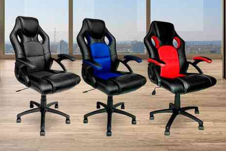 Home Empire - Racing style office chair choose from three colours - Save 65%