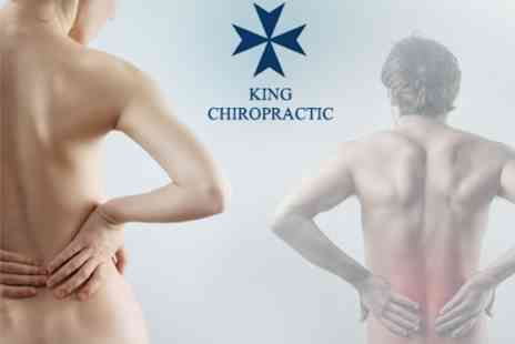 King Chiropractic - Chiropractic Consultation with Spinal Screening, and Three Follow up Treatments - Save 85%