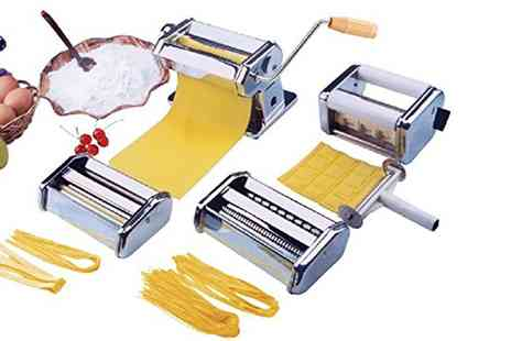 Groupon Goods Global GmbH - Vivo Heavy Duty Five in One Stainless Steel Professional Pasta Maker with Optional Pasta Dryer - Save 70%
