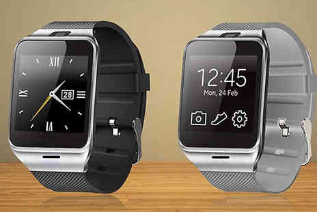 Best mall ever - Apple and Android Compatible Smartwatch Choose between 2 Colours - Save 73%