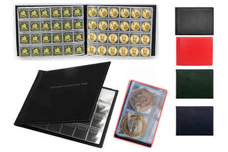 TMD Global - Coin collection album available in black, blue, green or red - Save 80%