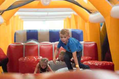 Funzy Inflatable Theme Park - One or Two Hour Inflatable Park Access for Up to Ten - Save 30%