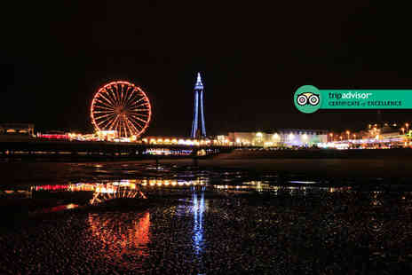 The Carousel - One or two night Blackpool stay with two course dinner, bottle of prosecco, breakfast late check out and early check in - Save 46%