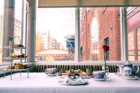 Manchester Marriott Victoria & Albert Hotel - Vegan afternoon tea for two or with a glass of Prosecco each, or with 90 minutes of bottomless Prosecco - Save 69%