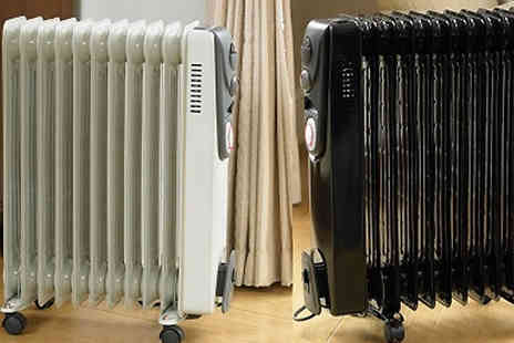 Home Season - 2500W Oil Filled Radiator Heater With Timer Available in 2 Colours - Save 50%