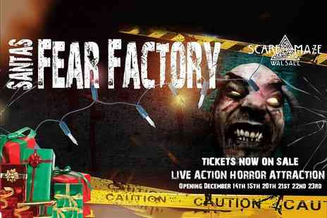 Walsall Scaremaze - Ticket to Santas Fear Factory this December - Save 37%