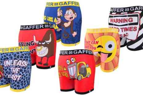 Groupon Goods Global GmbH - Three or Six Pack of Gaffer Novelty Boxer Shorts - Save 0%