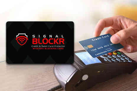 121 Mart - Signal Blockr RFID blocking card - Save 0%