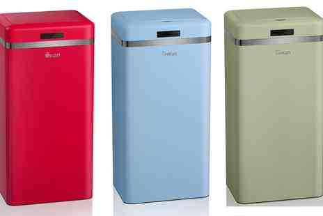 Groupon Goods Global GmbH - Swan 45L Retro Style Sensor Bin With Free Delivery - Save 69%