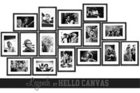 Hello Canvas - Large Limited Edition Legend 20x28 Canvas Print - Save 50%