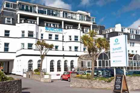 The Suncliff Hotel - One or Two Night Seafront Stay for Two with Breakfast, Dinner, Wine and Cake on Arrival - Save 45%