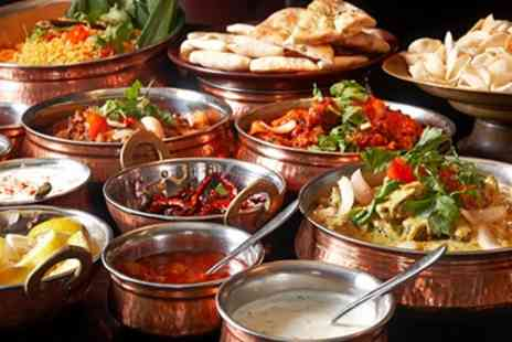 Jewel In The Crown - Three Course Indian Meal with Side Dishes for Two or Four - Save 62%