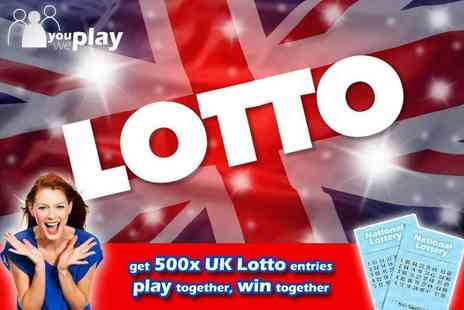 You Play We Play - 500 Lotto Lines - Save 70%