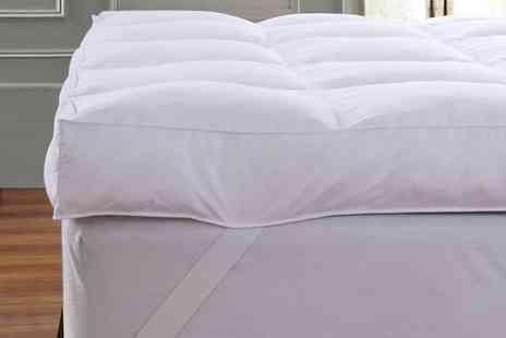 Groupon Goods Global GmbH - Extra Deep 12.5cm Dickens Goose Feather Mattress Topper - Save 81%