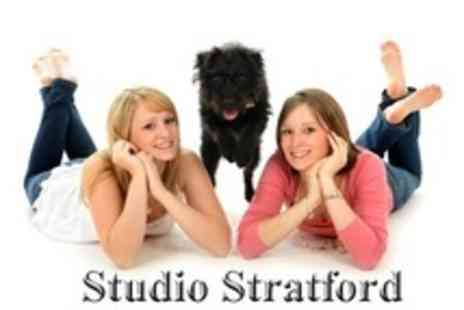 Studio Stratford - Photo Shoot For Up to Three Pets and Two Owners With Two Prints - Save 95%