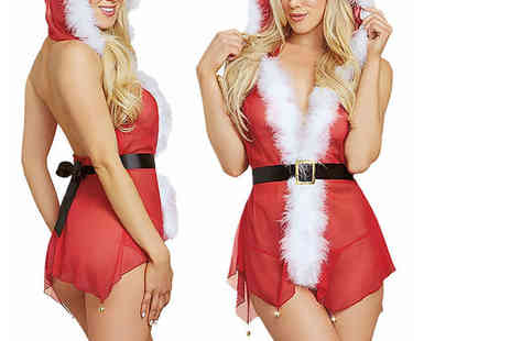 Trifolium Lingerie - Mrs Claus red and white faux fur sexy lingerie set - Save 0%