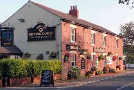 The Sitting Goose - Two Course Meal with Wine for Two or Four - Save 47%