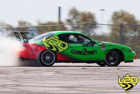 Learn2Drift - Four hour car drifting experience including three passenger laps or with six passenger laps - Save 70%
