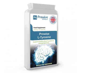 Prowise Healthcare - Four month supply of L tyrosine - Save 72%