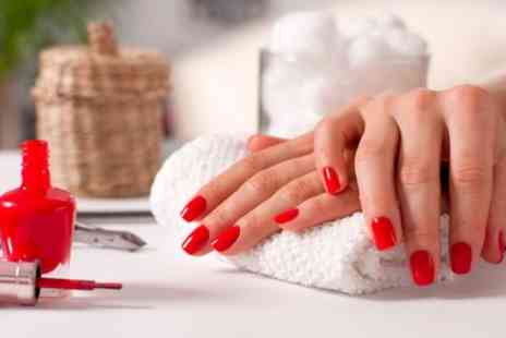 Amoura Nails & Beauty - Shellac Manicure, Pedicure or Both - Save 56%