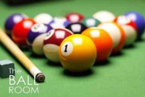 The Ball Room - 2 Hours of pool and a pizza each - Save 70%