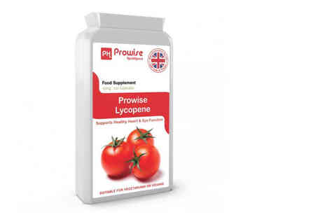 Prowise Healthcare - Four month supply of lycopene capsules supplements - Save 71%