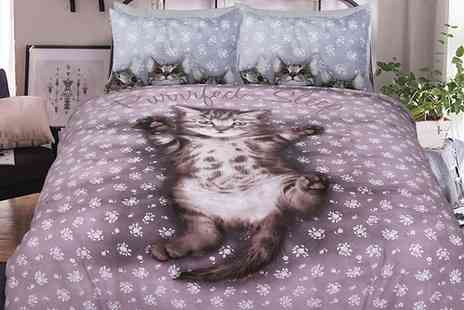 Groupon Goods Global GmbH - Pieridae Kittens Easy Care Duvet Set - Save 0%