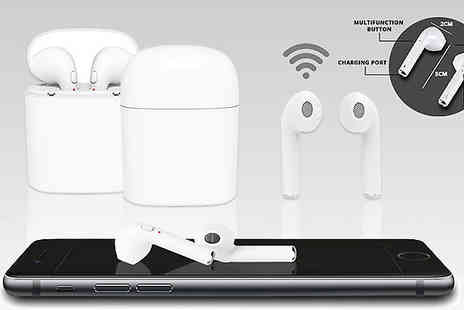 HXT Goods - Apple And Android Compatible Wireless Earbuds With Charging Box Choose in Three Colours - Save 85%