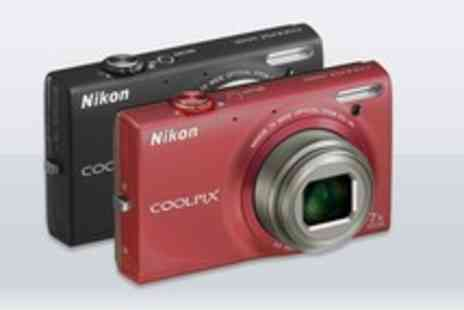 Tesco - Nikon Coolpix s6100 digital camera available in red or black - Save 50%