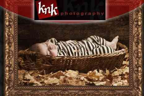 KNK Photography - One Hour Studio Photo Session with 24 x 24 Inch Print and Digital Images to Keep - Save 87%